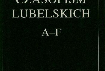 Katalog Czasopism Lubelskich, t. 1.