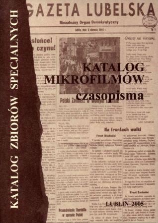 Katalog mikrofilmów - czasopisma