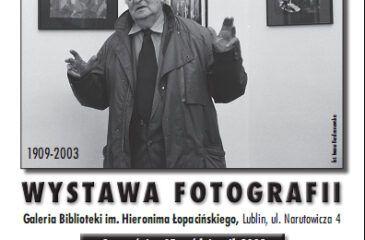 """Plakat wystawy """"W hołdzie Hartwigowi"""""""