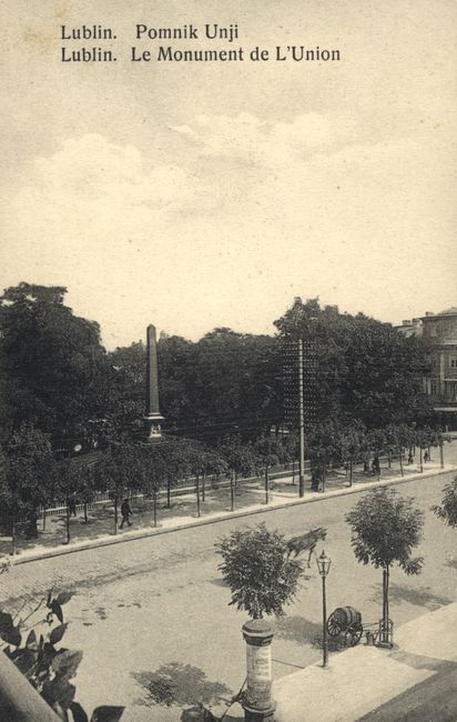 Plac Litewski. Pomnik Unii Lubelskiej, 1910.