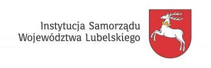 Herb Województwa Lubelskiego z napisem Instytucja Samorządu Województwa Lubelskiego